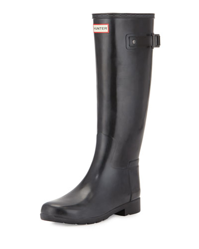 Original Tall Refined Gloss Rain Boot, Black