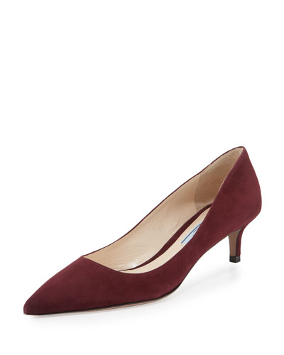 Suede 45mm Point-Toe Pump