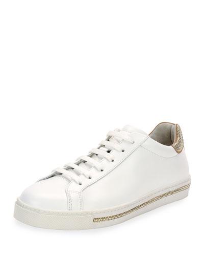 Crystal-Trim Low-Top Sneaker