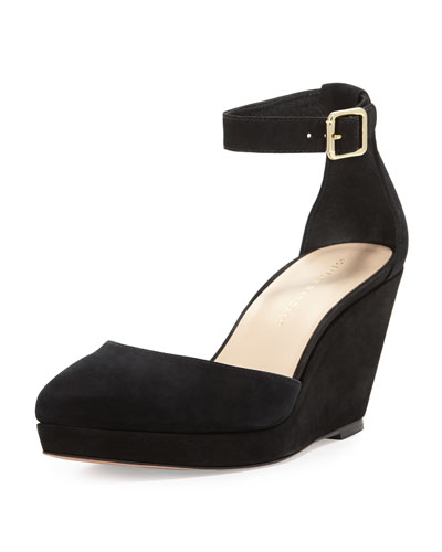 Jules Pointy-Toe Wedge, Black