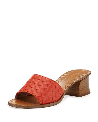 Intrecciato Napa 40mm Slide Sandal