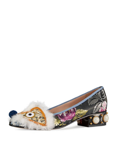 Kimberly Embroidered Jacquard Pump, Multi