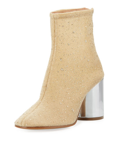 Speckled Chunky Zip-Up Bootie