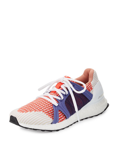 Ultra Boost Running Sneaker, White/Red