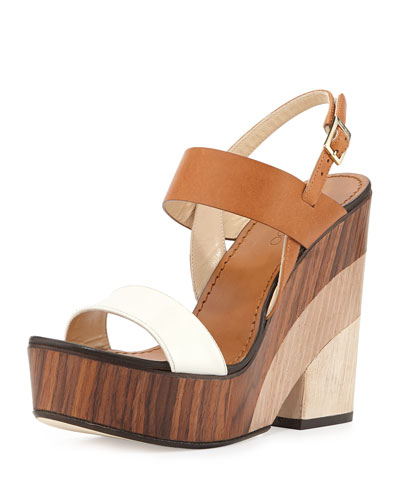 Notion Tricolor Wooden Wedge Sandal