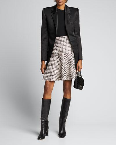 Astrid Tweed A-Line Skirt
