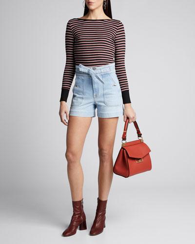 Variegated Stripe Long-Sleeve Top