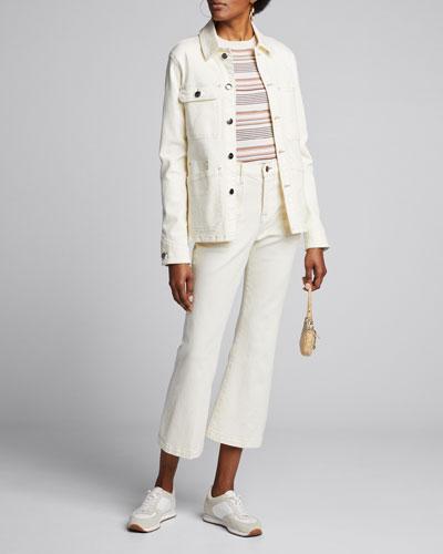 Button-Front Denim Carpenter Jacket