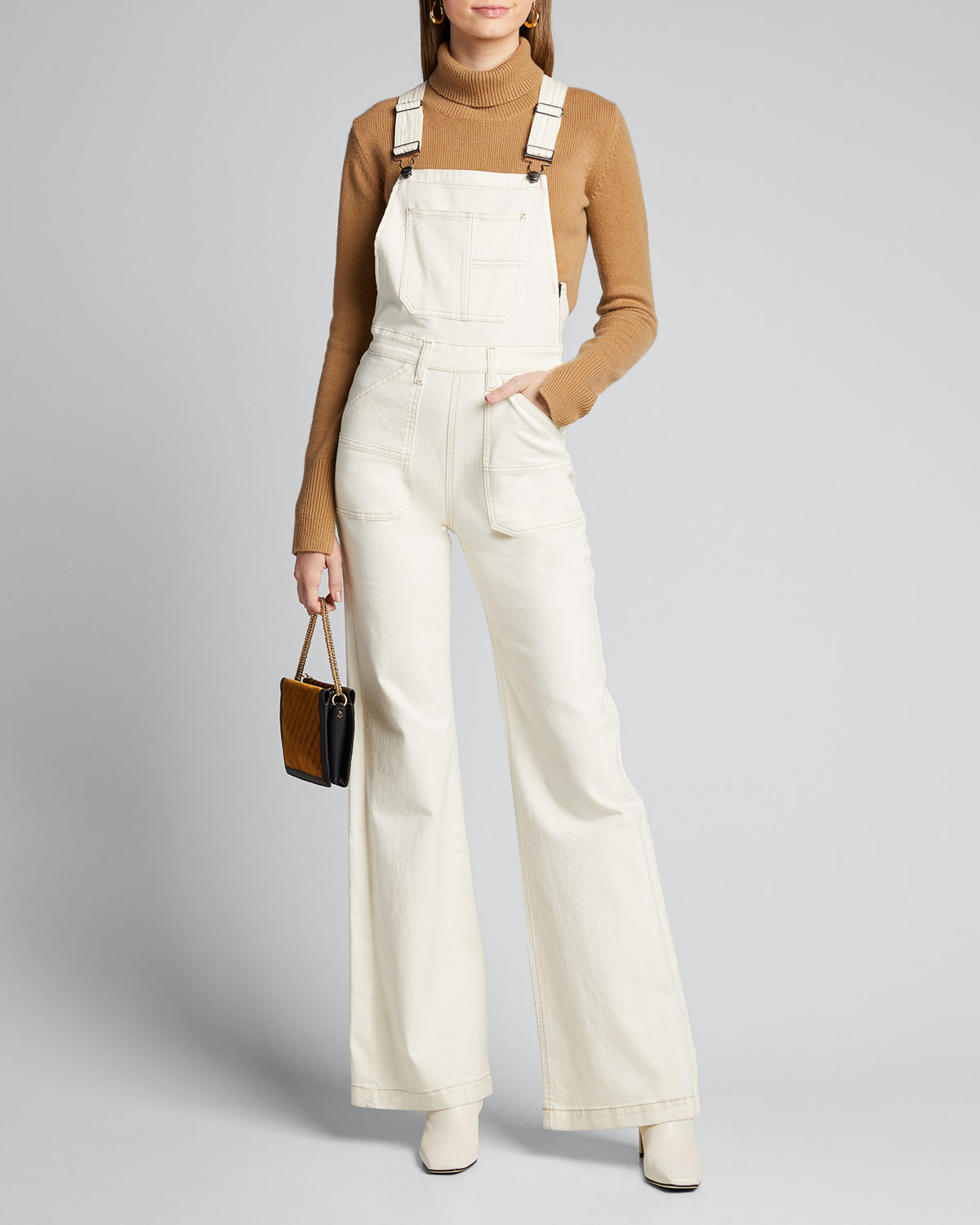 Frame Suits WIDE-LEG DENIM CARPENTER JUMPSUIT