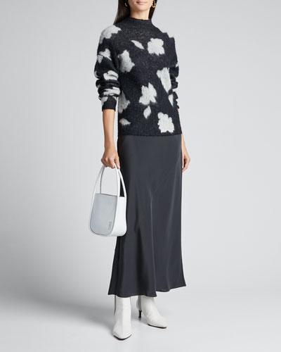 Mock-Neck Floral Pullover