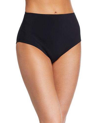 Fallyla Solid High-Waist Bikini Bottoms