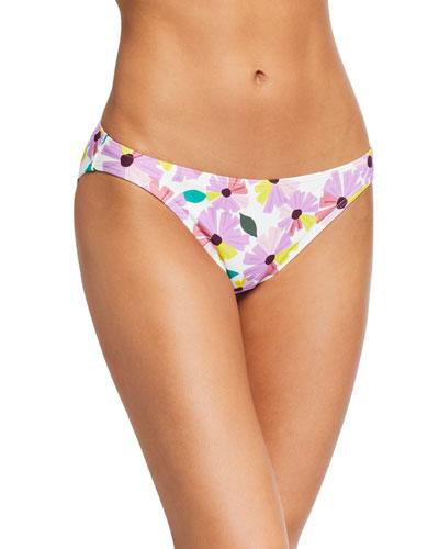 classic floral-print hipster bikini bottom