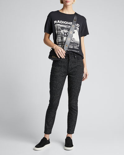 Good Sequined High-Rise Ankle Jeans
