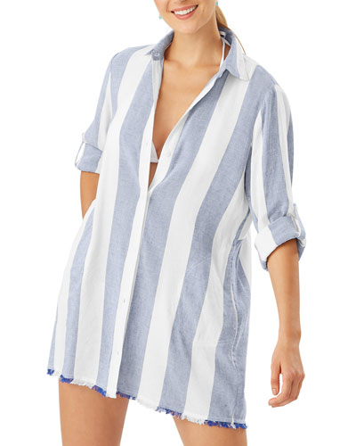 Rugby Beach Stripe Boyfriend Shirt