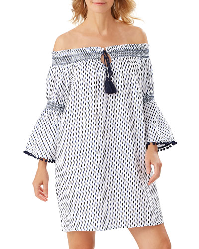 Canyon Sky Off-Shoulder Coverup Tunic