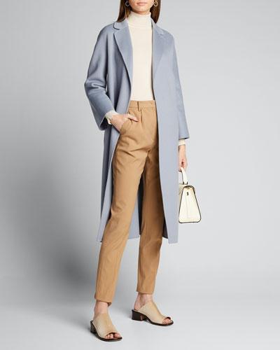 Esturia Self-Tie Virgin Wool Coat