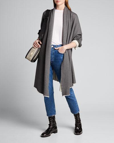 Draped Open-Front Coat