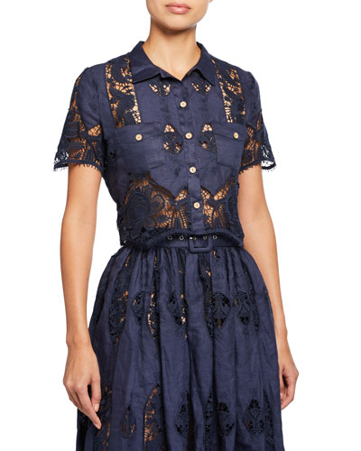 Astrid Coverup Blouse With Granadilla Embroidery