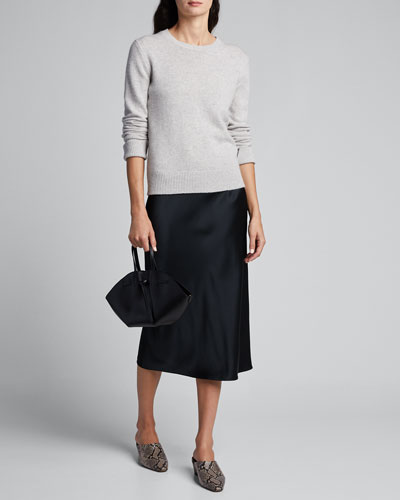Crewneck Long-Sleeve Pure Cashmere Sweater