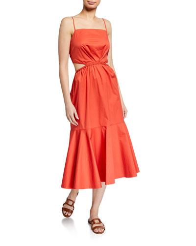 Summer Luck Sleeveless Midi Dress