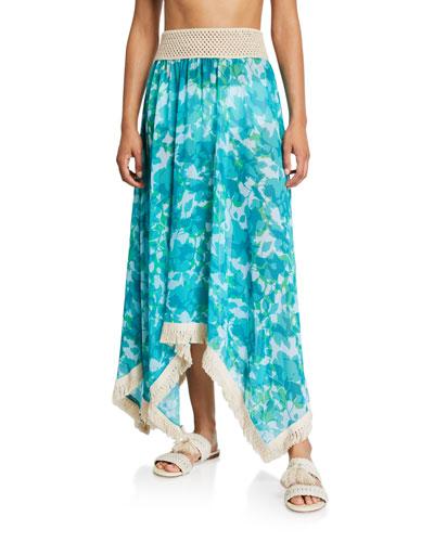Riviera Floral Print Skirt