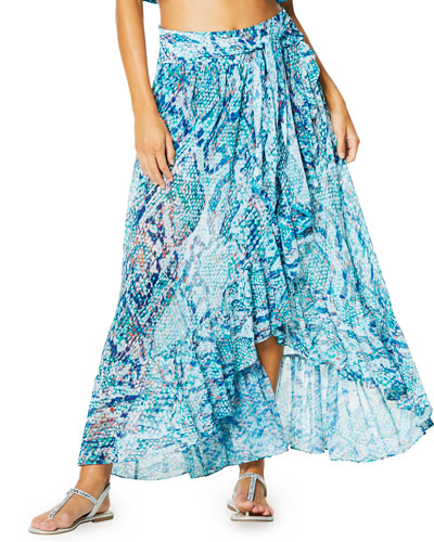 Verona Printed Coverup Skirt