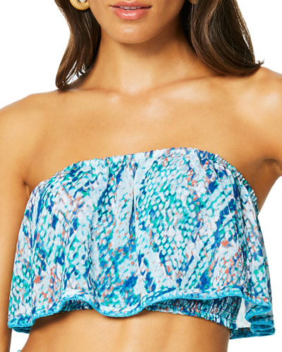 Meena Printed Cropped Coverup Top