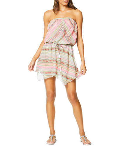 Alondra Strapless Handkerchief Coverup Dress