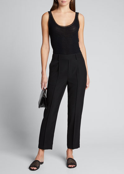 Tapered Pull-On Pants