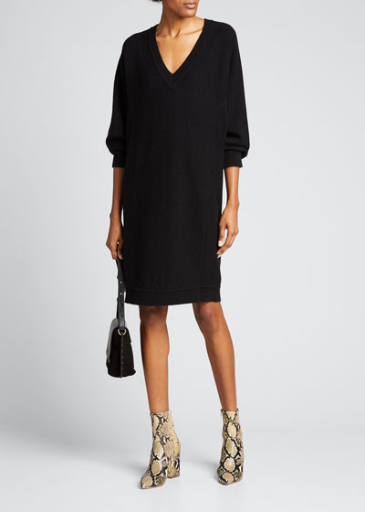V-Back Dolman-Sleeve Shift Dress
