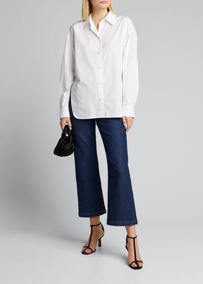 Convertible Button-Down Cotton Shirt