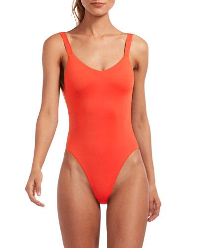 Leah High-Leg Cheeky One-Piece Swimsuit