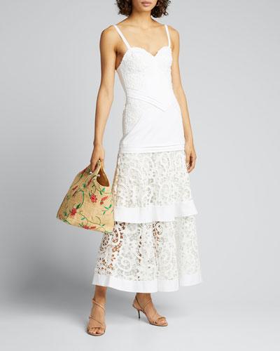 Harlowe Tiered-Lace Sleeveless Dress