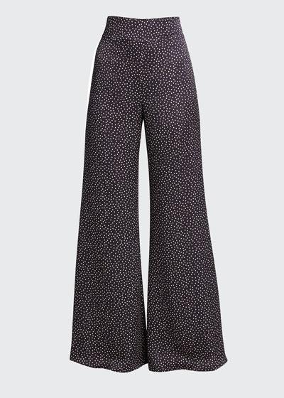 Minna Printed Wide-Leg Pants