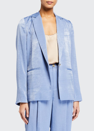 Drapey One-Button Blazer