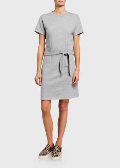 Short-Sleeve Waist-Tie Dress