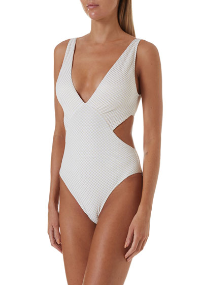 Del Mar Cutout Cheeky One-Piece Swimsuit