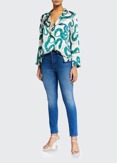 The Super Stunner Ankle Skinny Jeans with Heart Pocket