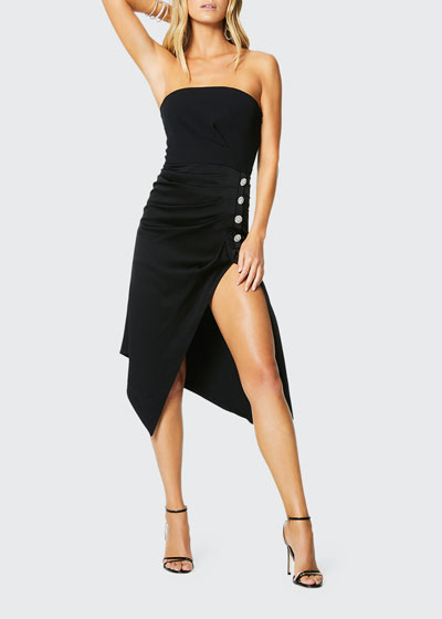 Carmen Embellished Strapless Cocktail Dress
