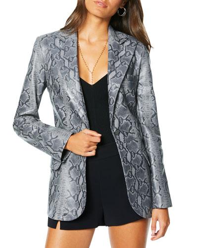 Andel Leather Blazer Jacket