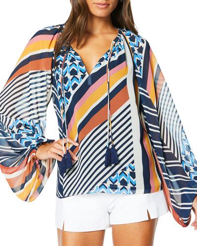 Kayden Geometric Print Dress