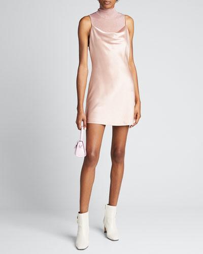 Harmony Draped Satin Slip Dress