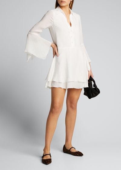 Priscilla Button-Down Shirt Dress