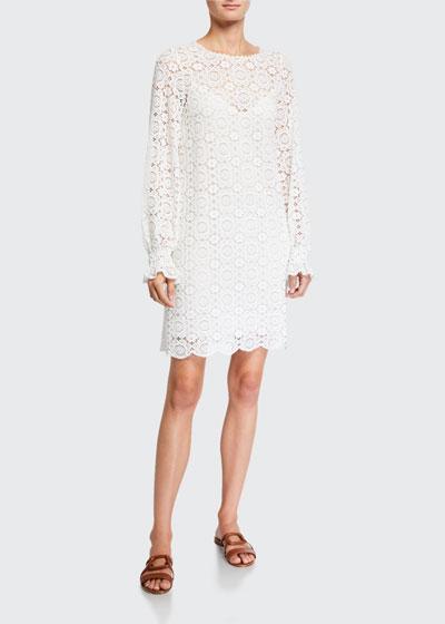 Summer Long-Sleeve Lace Dress