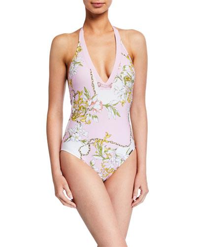 Foulard Riviera Halter One-Piece Swimsuit