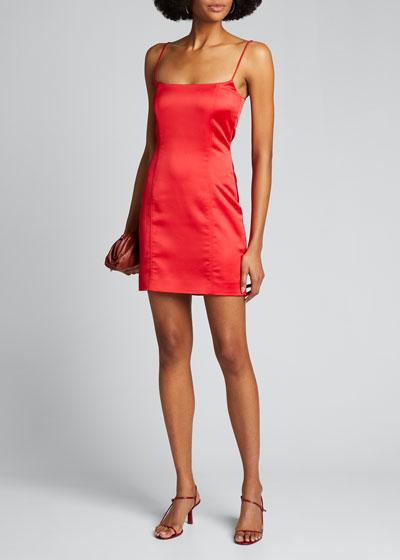 Medellin Cami-Strap Satin Mini Dress