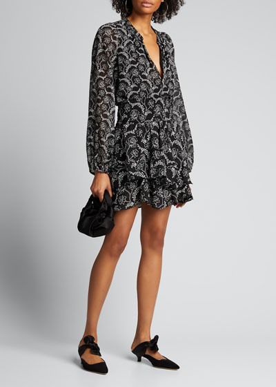 Vera Floral-Print Tiered Skirt