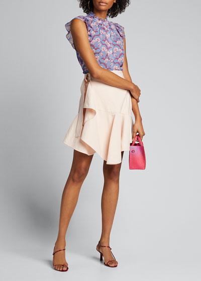 Foley Floral-Print Sleeveless Top