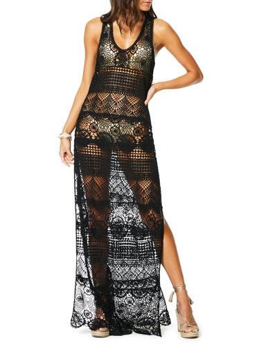 Nimea Sleeveless Lace Coverup Dress