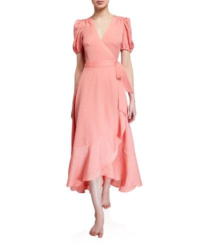 Malibu Chiffon Jacquard Dress